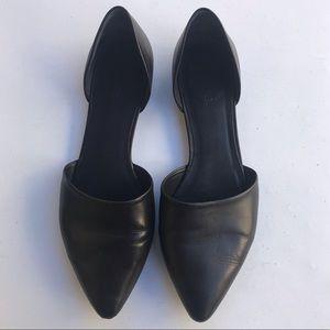 VINCE Nina D'Orsay Leather Ballet Flats